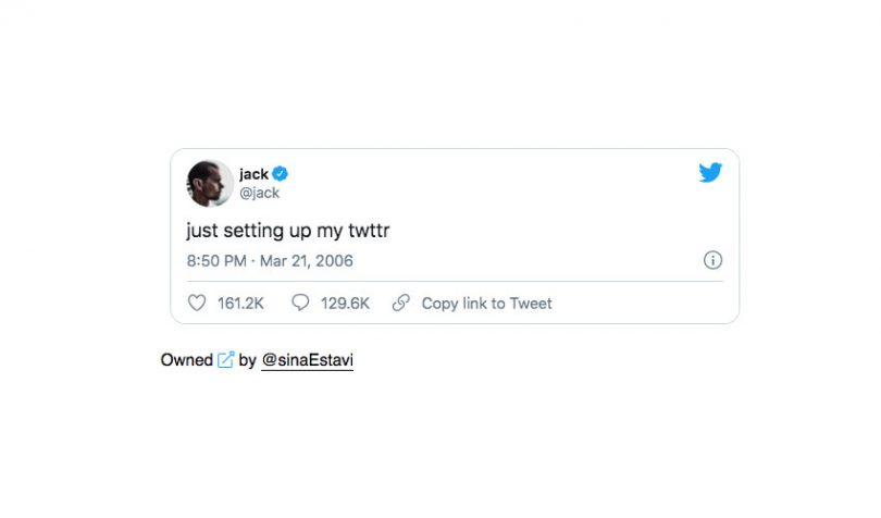 Twitter CEO, Jack Dorsey, just sold his first tweet for 2.9 Million US Dollarydoos