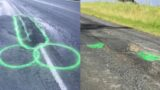 Kiwi bloke paints penises over potholes to get them filled in faster
