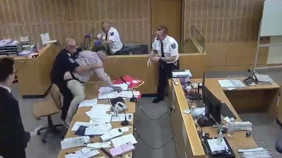 Bloke gets pants pulled down while trying to flee court after bail revoked