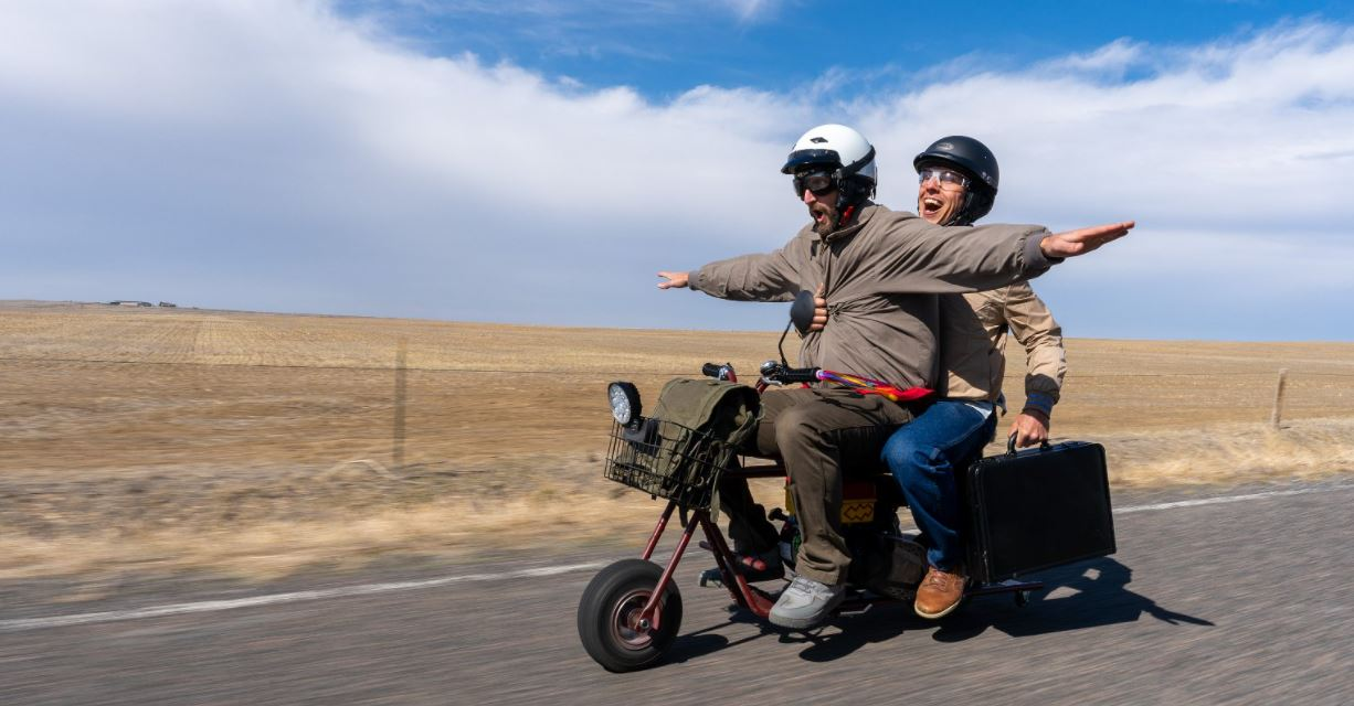 These blokes recreated the Dumb and Dumber motorcycle road-trip!