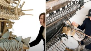 Bloke with musical marble machine is back and this thing is bloody mint