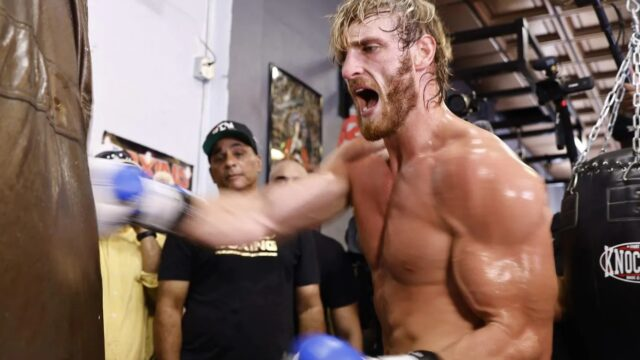 Logan Paul is f*@#en JACKED days out from Mayweather fight