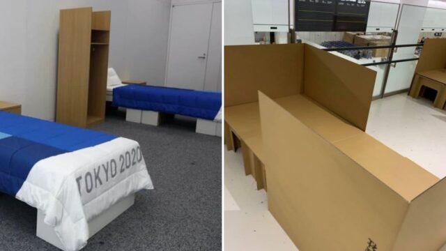 "Athletes given ""anti-sex"" beds at Tokyo Olympics"