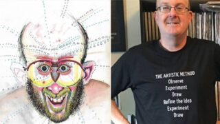 Artist draws self-portraits on different drugs & gives himself brain damage
