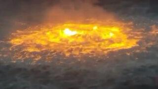 """Massive """"eye of fire"""" breaks out from pipeline leak in Gulf of Mexico"""
