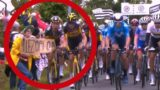 """Fan causes """"worsed ever crash"""" at Tour de France with cardboard sign"""