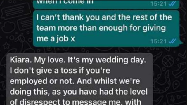 Pub boss rips bartender who quit on his wedding day to shreds!