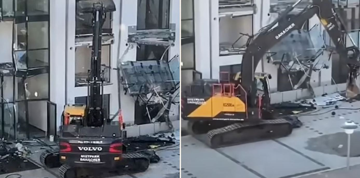 What happens when you decide not to pay the bloke with machinery