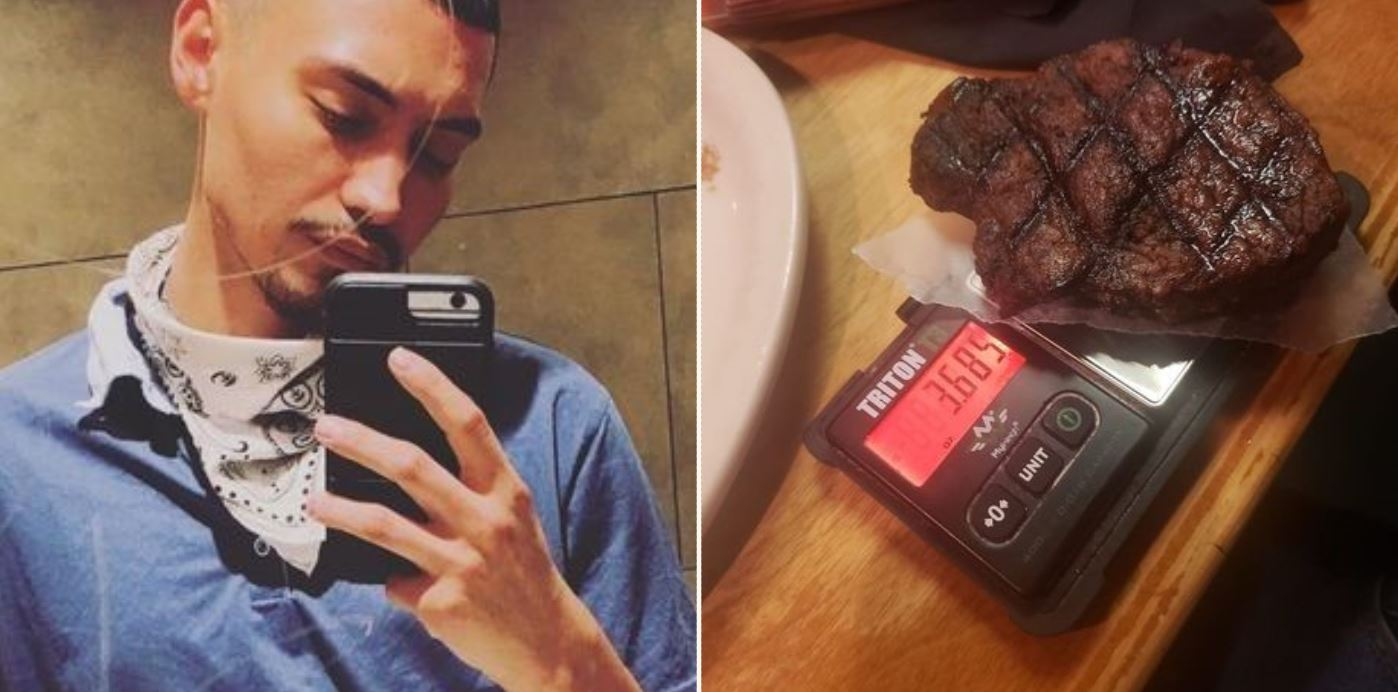 Bloke weighs his 'kid-size' 6oz steak under the table and shames restaurant