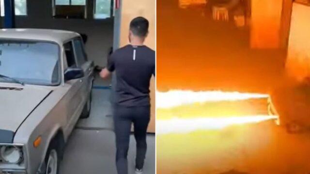 This Russian bloke built a f@*#en flame-throwing car!