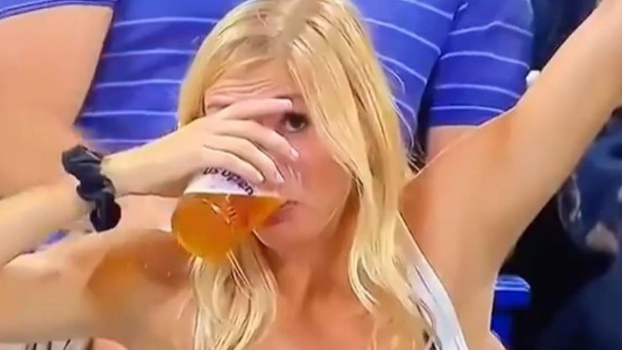 Sheila becomes the true hero of the US Open when she chugs two beers and goes viral!