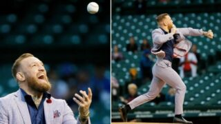 Conor McGregor rivals 50 Cent for worst-ever first pitch at baseball game