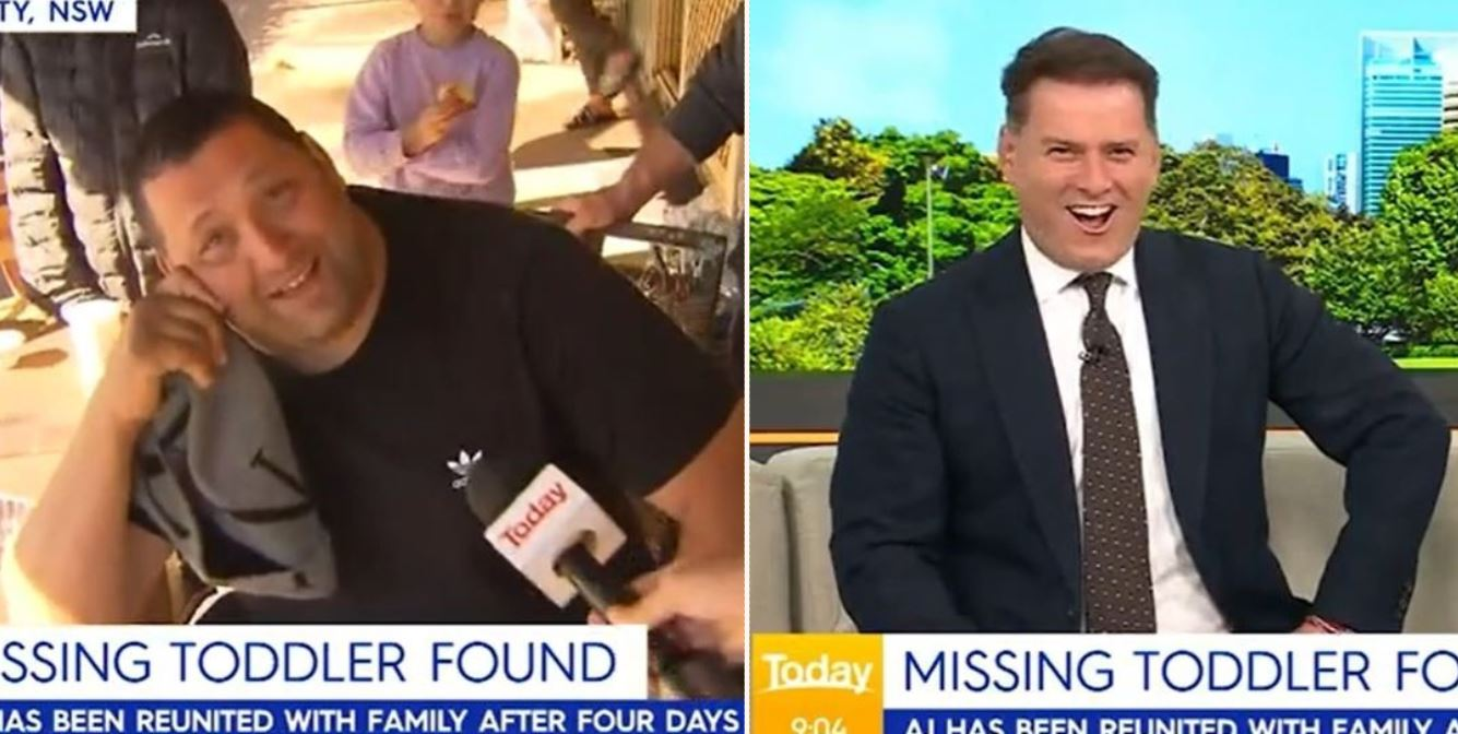 Family of rescued Aussie toddler invite renowned Aussie celeb for booze and 'bags' on live TV