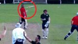 The most entertaining delivery in village cricket history was recently caught on film