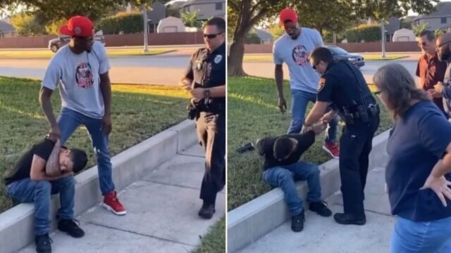 UFC Fighter Kevin Holland uses Khabib scarf hold to make citizen's arrest on car-thief